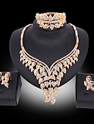 cheap -Women's Jewelry Set Bridal Jewelry Sets Tassel Fringe Flower Fashion Gold Plated Earrings Jewelry Gold For Christmas Wedding Halloween Party Evening Gift 1 set