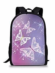 cheap -purple fantacy butterfly design kids shoulder backpack school bag