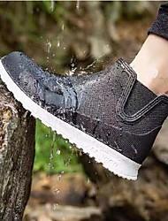 cheap -men's slip on waterproof chelsea rain boots short rain shoes black white eu41 - us 8