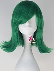 cheap -Synthetic Wig Disgust Curly Side Part Wig Short Green Synthetic Hair 14 inch Women's Adorable Exquisite Green