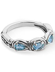 cheap -sterling silver purple amethyst gemstone 3 stone ring size 5