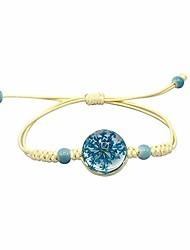 cheap -blue flower resin adjustable bracelet for women