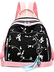 cheap -girls embroidered canvas backpack fashion casual school bag cute laptop bookbags