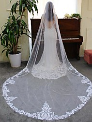 cheap -One-tier Stylish / Lace Wedding Veil Cathedral Veils with Solid Lace / Tulle