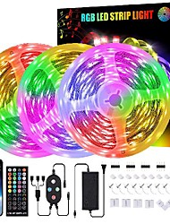 cheap -led strip lights 49.2ft-15m  led lights waterproof 450 leds 5050 10mm flexible led light strips color changing music sync rgb rope light with remote smart led lights for bedroom home kitchen