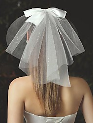 cheap -One-tier Stylish / Cute Wedding Veil Shoulder Veils with Satin Bow Tulle / Classic