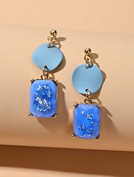 cheap -Women's Drop Earrings Geometrical Fashion Sweet Earrings Jewelry Blue For Date Festival