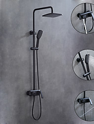 cheap -Shower System / Rainfall Shower Head System Set - Handshower Included Rainfall Shower Contemporary Painted Finishes Mount Outside Ceramic Valve Bath Shower Mixer Taps