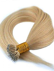"""cheap -nano ring hair extensions ash blonde colour #16 brazilian long thick remy hair + free rings included (18"""" long)"""