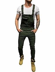 cheap -mens jeans overall jumpsuit streetwear pocket overall bib overall slim fit denim pants