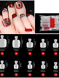 cheap -500PCS Toe Natural Color Manicure French Pointed Toe Nail Seamless Nail Ballet Nail Transparent Nail Toe Nail Toe Nail Piece