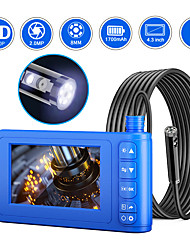 cheap -8 mm high-definition Camera 4.3-inch integrated screen dual-lens sewer electronic air-conditioning hard wire 1m with 32G TF card