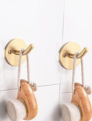 cheap -Robe Hook New Design / Adorable / Cool Contemporary / Modern Brass 2pcs - Bathroom / Hotel bath Wall Mounted