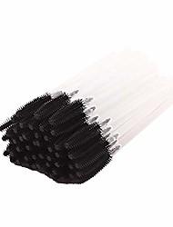 cheap -dotisa 50 pcs disposable mascara wands silicone eyelash brushes eye lash makeup applicators (multi-color optional)