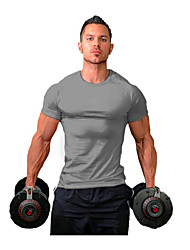 cheap -men's slim fit athletic bodybuilding t-shirts muscle short sleeve tee(sapphire-xl-m)