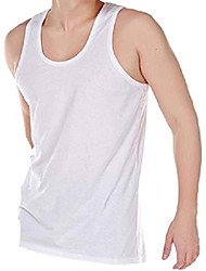 "cheap -mens 100% cotton summer weight singlet vests underwear / white / available in sizes small / medium / large / x large / xx large (pack of 6) (x large 44-46"" (112-117 cms))"