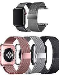 cheap -Watch Band for Apple Watch Series 6 / SE / 5/4 44mm / Apple Watch Series 6 / SE / 5/4 40mm / Apple Watch Series 3/2/1 38mm Apple Milanese Loop Stainless Steel Wrist Strap  (1pcs)