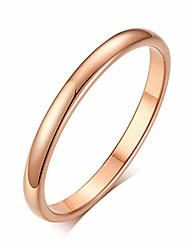 cheap -2mm thin rings female jewelry black silver color rose gold color stainless steel elegant party tail ring for woman (rose gold, 6)