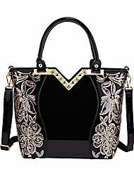 cheap -women's handbags fashion high capacity patent leather casual cross-body top-handle