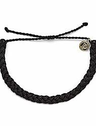 cheap -black braided bracelet - 100% waterproof, adjustable band - brand charm, multicolor