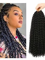 cheap -passion twist hair 18 inch 7 pcs passion twist braiding hair water wave hair for passion twist crochet braids crochet hair extensions (#1b)