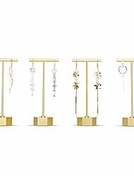 """cheap -t earring display stand - 4 pack detachable earring organizer - t bar earring stands for shows - elegant jewelry holder displays for earrings (4 pieces 5.30"""" height)"""