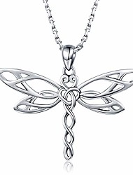 cheap -| sterling silver dragonfly pendant necklace | irish celtic heart shaped knot