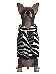 cheap -Dog Hoodie Graphic Optical Illusion 3D Print Ordinary Fashion Casual / Daily Dog Clothes Puppy Clothes Dog Outfits Breathable Stripe Costume for Girl and Boy Dog Polyster S M L XL