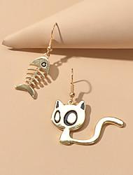 cheap -Women's Drop Earrings Mismatch Earrings Geometrical Cat Cute Earrings Jewelry Gold For Date Festival