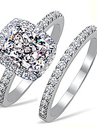 cheap -supreme 101 facets 2 carat rectangular cushion cut nscd simulated diamond ring band set solid 925 silver halo design (7)