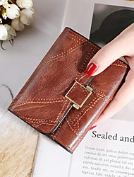 cheap -Women's Bags PU Leather Wallet Print Plain 2021 Daily Date Wine Black Blushing Pink Dark Green