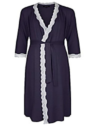 cheap -radiance dresssing gown (maternity & breastfeeding) in navy (extra large (uk 18-20))