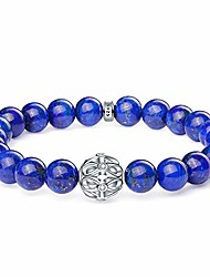 cheap -natural gemstone bead bracelet for women, 8mm lapis lazuli bead bracelet with silver infinity pendant and crystal infinity bracelet