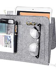 cheap -Bedside Storage Bags Sofa Felt Hanging Organizer Bag 5 Pocket Bedside Caddy- Hanging Bag for TV Remote Control Water Bottle Book Phone