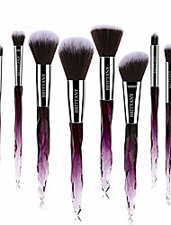 cheap -Brush Set - Soft Fibres for Application - Blush, Eyeshadow, Powder Applicators - Beauty Tools for Makeup Techniques - 10-Piece Kit & Case