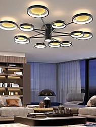 cheap -6/8/10/12 Heads LED Ceiling Light Black Nordic Style Circle Design Tricolor Light Sputnik Design Flush Mount Lights Metal 110-120V 220-240V