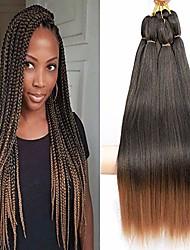 cheap -8 pieces pre-stretched braiding hair perm 26 inches synthetic fiber braid hair free hot water setting crochet braiding hair extension (1b/30)