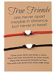cheap -friendship bracelets for 2, make a wish bracelet that falls off bracelet for women girls men boys best friends adjustable braided woven jewelry gift for birthday