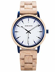 cheap -wooden stylish watch for men import movement quartz wood watches with date function fashion and casual natural wood lightweight wrist watch (maple wood)