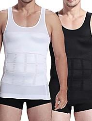 cheap -men slim body shaper compression undershirt tank vest shapewear xxl