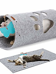 cheap -cat tunnel mat, comfy soft felt material, safe with no sharp wires, extendable diy play tunnels for kittens, puppies, rabbits and small pets.