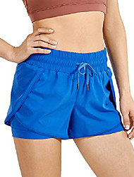 cheap -running shorts women sport shorts with liner 2 in 1 athletic shorts with zip pocket- 3 inches blue 10