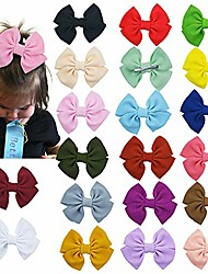 cheap -20pcs baby girls hair bow alligator clips pinwheel bow knot barrettes for school girls toddlers by  (pinwheel bow)
