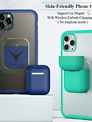 cheap -Magnetic Case For Apple iPhone 12 11 SE 2020 Shockproof Case with Earbuds Charging Box Excluding Headphone Case Apply to Vehicle Car PC Clear Case for iPhone 12 Pro Max 12 Mini 11 XS Max 8 Plus 7 Plus
