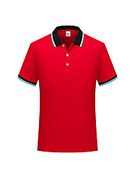 cheap -men's short sleeve polo shirts casual fit golf solid color tops,red,small
