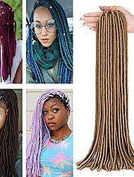 "cheap -faux locs weave 20"" 100g crochet braiding hair extensions 20 strands twist braids synthetic braiding hairpiece light brown"