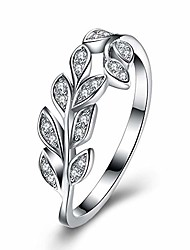 cheap -olive branch wedding bands anniversary ring in 925 sterling silver with cubic zirconia, size 8