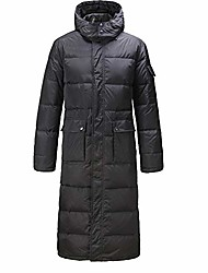 cheap -unisex womens mens coat puffer quilted cotton padded plain long uk 10-18(xl(14),black)