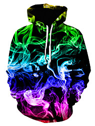 cheap -Men's Unisex Pullover Hoodie Sweatshirt Rendering With Pockets Hooded Causal Daily 3D Print Abstract Active Hoodies Sweatshirts  Long Sleeve Blue Green Black