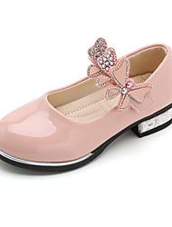 cheap -Girls' Flats Princess Shoes PU Little Kids(4-7ys) Big Kids(7years +) Daily Walking Shoes White Black Pink Spring Fall